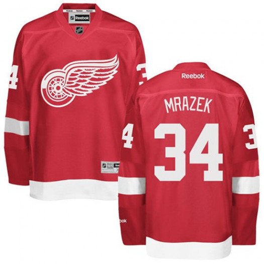Petr Mrazek Detroit Red Wings Men's Reebok Authentic Red Home Jersey