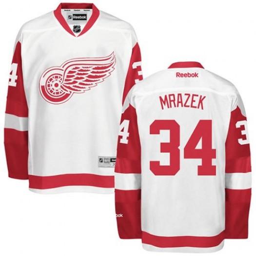 Petr Mrazek Detroit Red Wings Men's Reebok Premier White Away Jersey