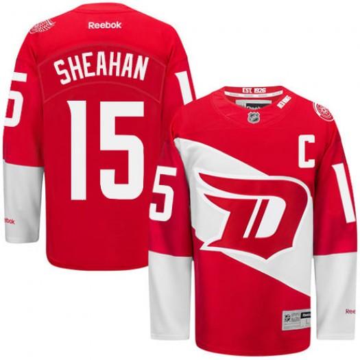 Riley Sheahan Detroit Red Wings Men's Reebok Premier Red 2016 Stadium Series Jersey