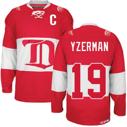 Steve Yzerman Detroit Red Wings Men's CCM Premier Red Winter Classic Throwback Jersey