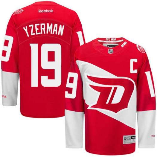 Steve Yzerman Detroit Red Wings Men's Reebok Authentic Red 2016 Stadium Series Jersey