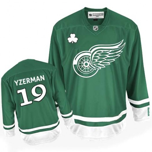 Steve Yzerman Detroit Red Wings Men's Reebok Premier Green St Patty's Day Jersey