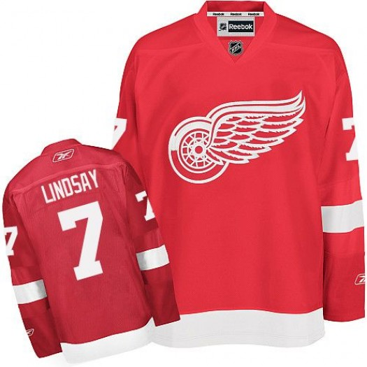 Ted Lindsay Detroit Red Wings Men's Reebok Authentic Red Home Jersey