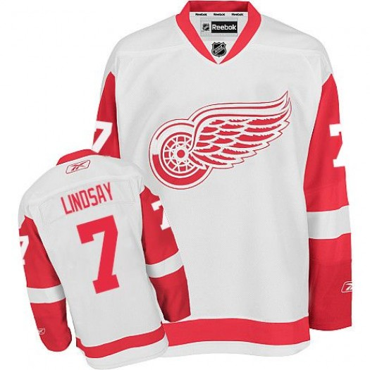 Ted Lindsay Detroit Red Wings Men's Reebok Authentic White Away Jersey