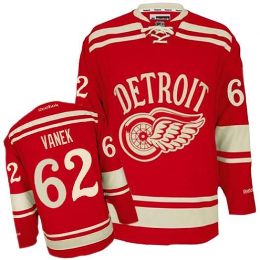 Thomas Vanek Detroit Red Wings Men's Reebok Premier Red 2014 Winter Classic Jersey