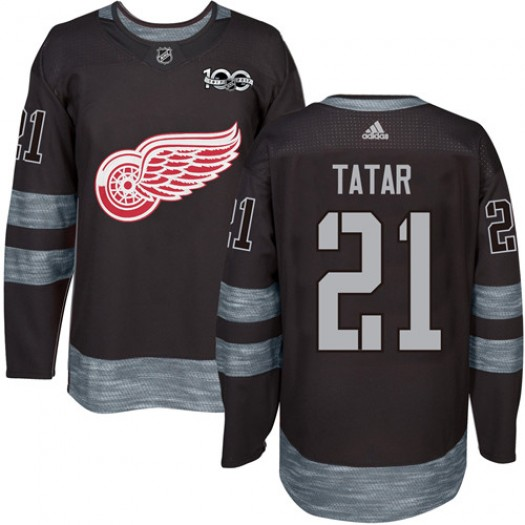 Tomas Tatar Detroit Red Wings Men's Adidas Authentic Black 1917-2017 100th Anniversary Jersey