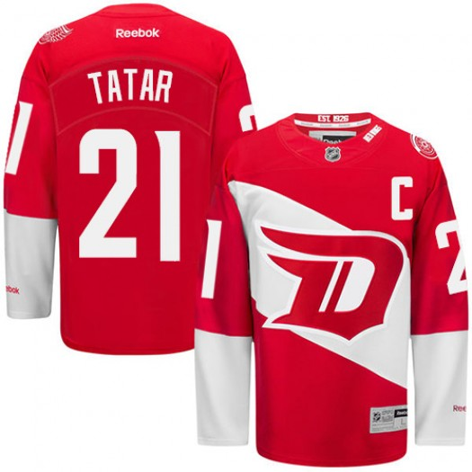 Tomas Tatar Detroit Red Wings Men's Reebok Premier Red 2016 Stadium Series Jersey