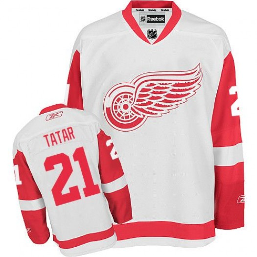 Tomas Tatar Detroit Red Wings Men's Reebok Premier White Away Jersey