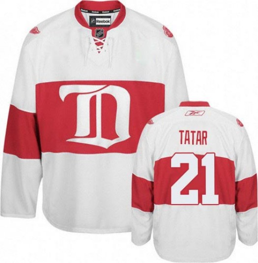 Tomas Tatar Detroit Red Wings Men's Reebok Premier White Third Jersey