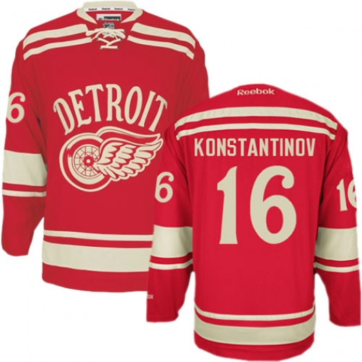 Vladimir Konstantinov Detroit Red Wings Men's Reebok Authentic Red 2014 Winter Classic Jersey