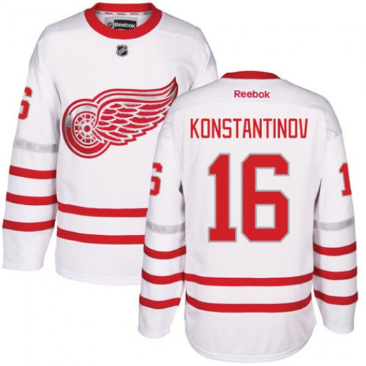 Vladimir Konstantinov Detroit Red Wings Men's Reebok Authentic White 2017 Centennial Classic Jersey