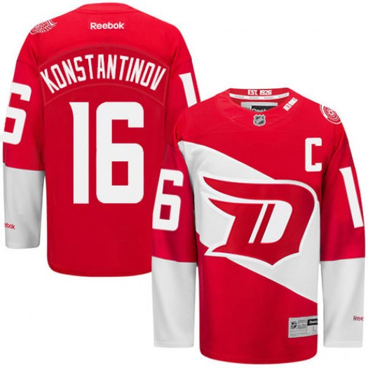 Vladimir Konstantinov Detroit Red Wings Men's Reebok Premier Red 2016 Stadium Series Jersey