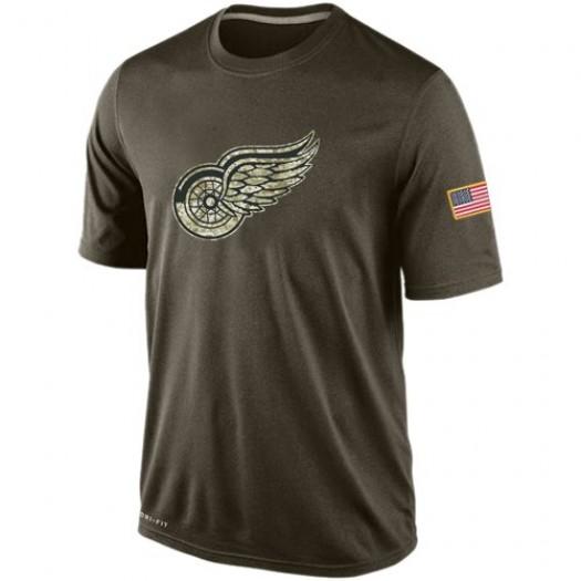 Detroit Red Wings Men's Nike Olive Salute To Service KO Performance Dri-FIT T-Shirt