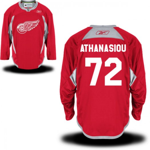 Andreas Athanasiou Detroit Red Wings Men's Reebok Replica Red Practice Team Jersey