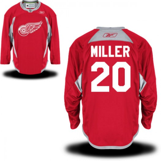 Drew Miller Detroit Red Wings Men's Reebok Replica Red Practice Team Jersey