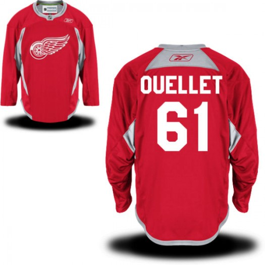 Xavier Ouellet Detroit Red Wings Men's Reebok Replica Red Practice Team Jersey