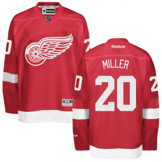 Drew Miller Detroit Red Wings Men's Reebok Replica Red Home Jersey
