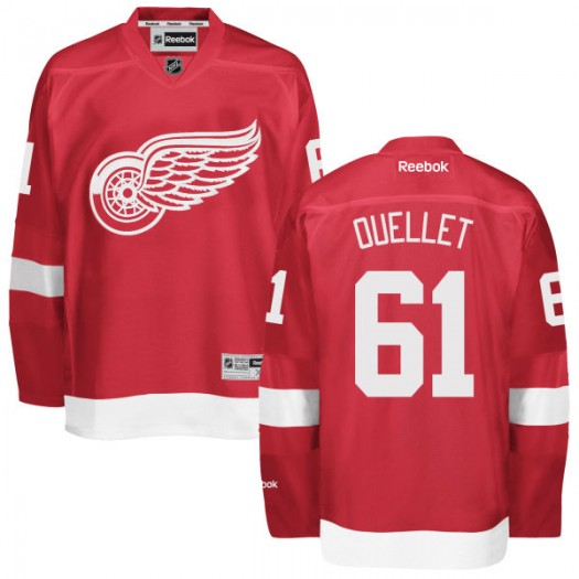 Xavier Ouellet Detroit Red Wings Men's Reebok Replica Red Home Jersey