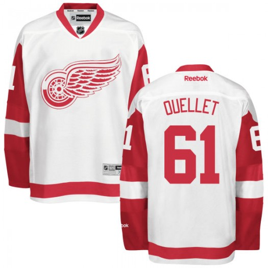 Xavier Ouellet Detroit Red Wings Men's Reebok Replica White Away Jersey