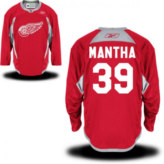 Anthony Mantha Detroit Red Wings Men's Reebok Premier Red Practice Team Jersey