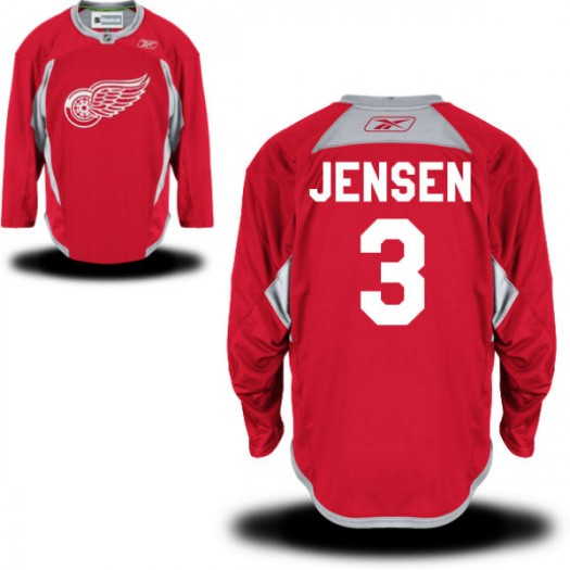 Nick Jensen Detroit Red Wings Men's Reebok Premier Red Practice Team Jersey