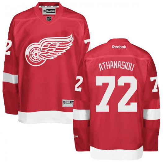 Andreas Athanasiou Detroit Red Wings Youth Reebok Replica Red Home Jersey