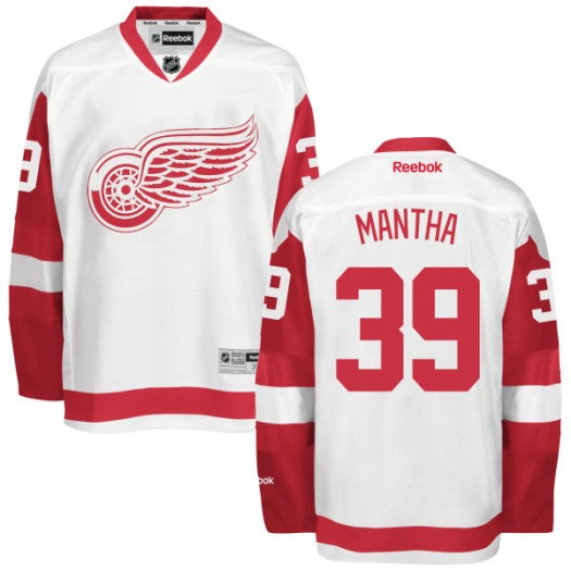 Anthony Mantha Detroit Red Wings Youth Reebok Replica White Away Jersey