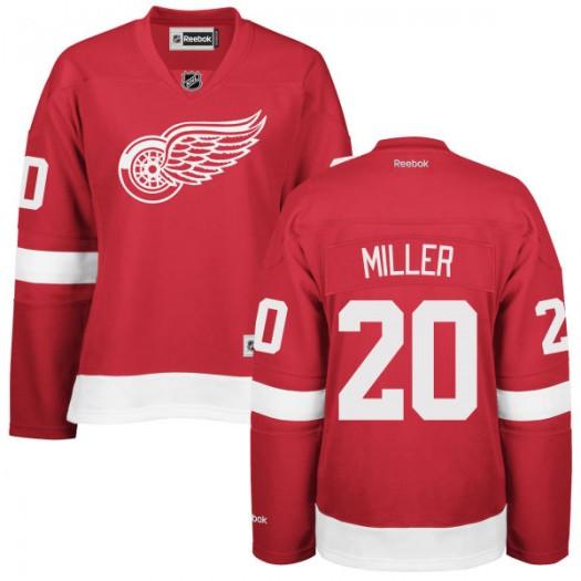 Drew Miller Detroit Red Wings Women's Reebok Replica Red Home Jersey