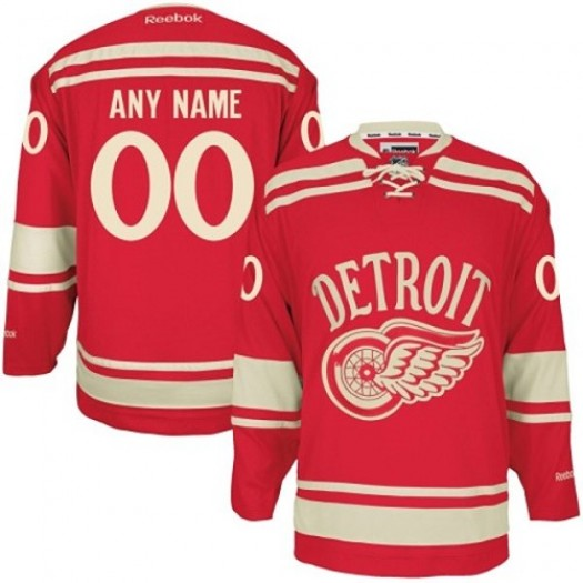Men's Reebok Detroit Red Wings Customized Authentic Red 2014 Winter Classic Jersey
