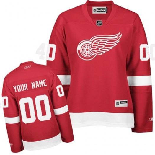 Women's Reebok Detroit Red Wings Customized Authentic Red Home Jersey