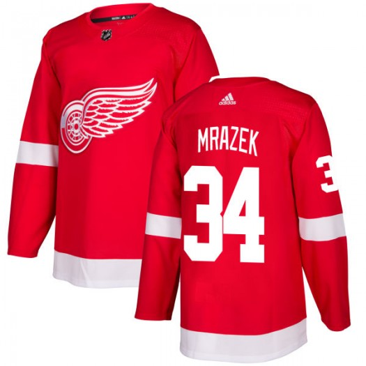 Petr Mrazek Detroit Red Wings Men's Adidas Authentic Red Jersey