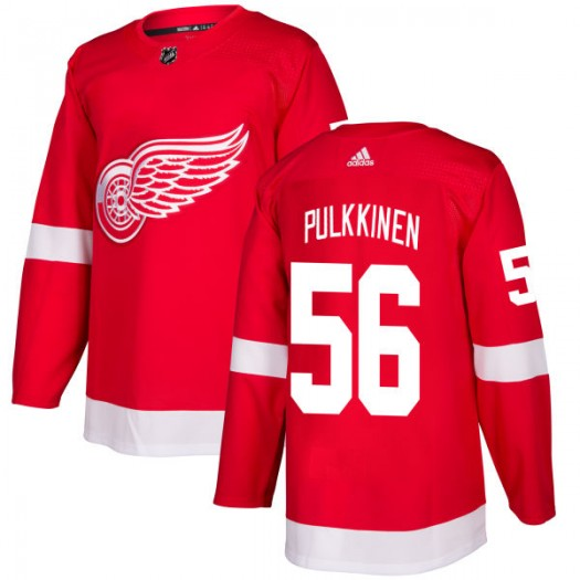 Teemu Pulkkinen Detroit Red Wings Men's Adidas Authentic Red Jersey