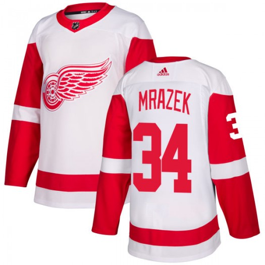 Petr Mrazek Detroit Red Wings Men's Adidas Authentic White Jersey