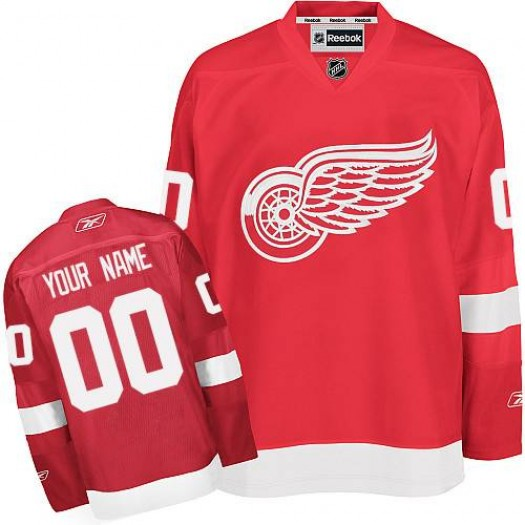 Youth Reebok Detroit Red Wings Customized Authentic Red Home Jersey