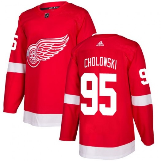 Dennis Cholowski Detroit Red Wings Men's Adidas Premier Red Home Jersey