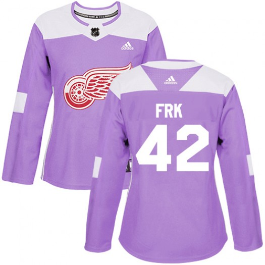 Martin Frk Detroit Red Wings Women's Adidas Authentic Purple Fights Cancer Practice Jersey