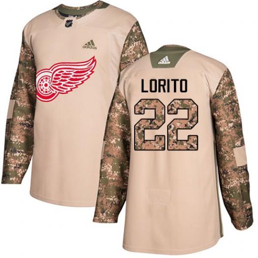 Matthew Lorito Detroit Red Wings Men's Adidas Authentic Camo Veterans Day Practice Jersey